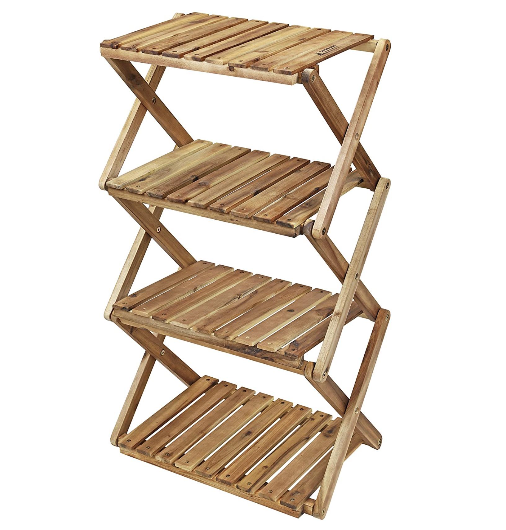 キャプテンスタッグ 木製4段ラック
