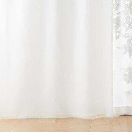 無印良品 ポリエステル綿変り織プリーツカーテン
