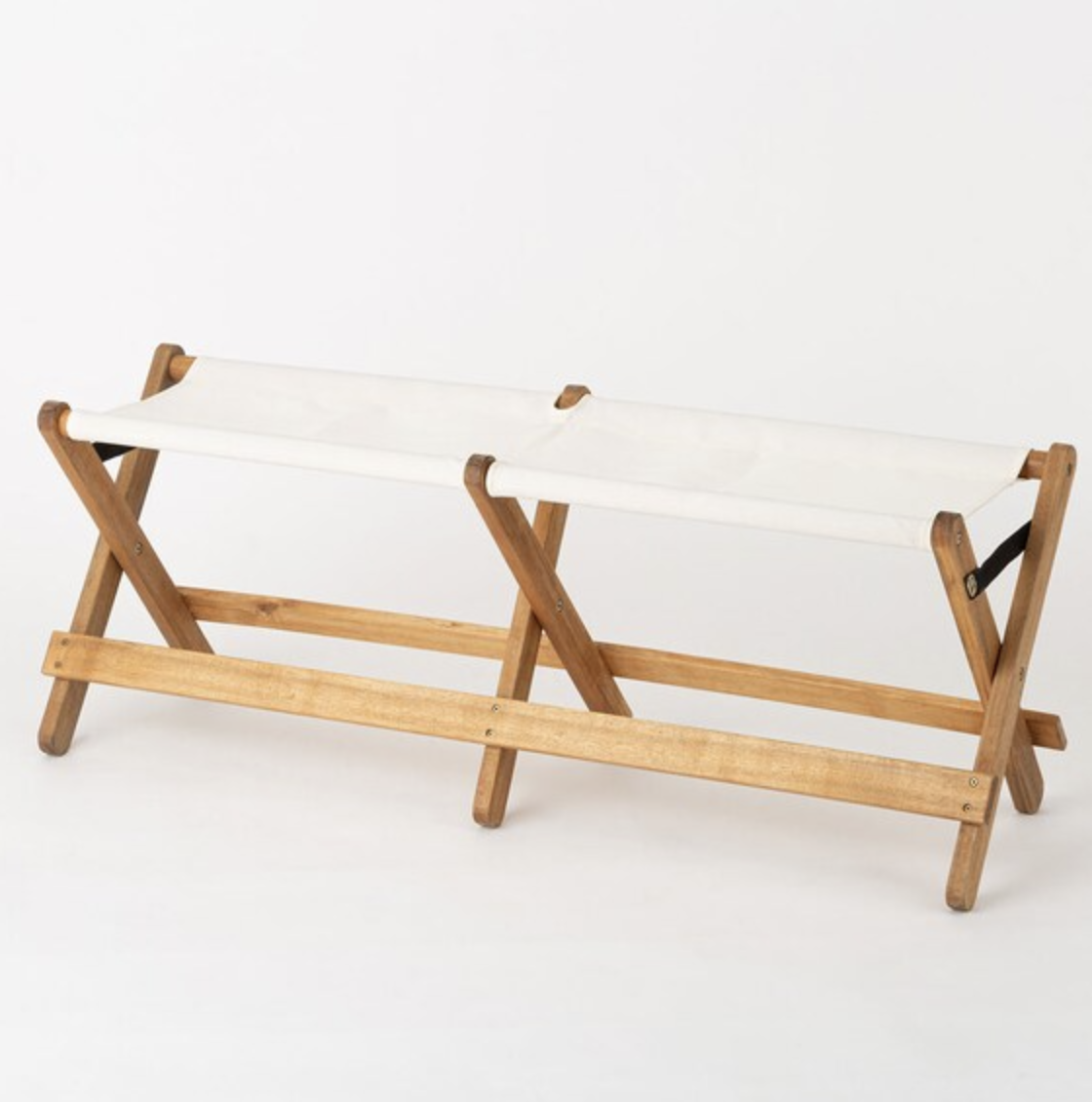 木製ベンチ O(アイボリー)