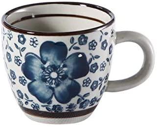 エスプレッソコーヒーカップ(青い椿)(75ml) 120017(Nishida)
