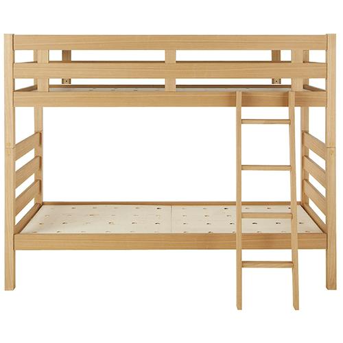 木製2段ベッド オーク材突板